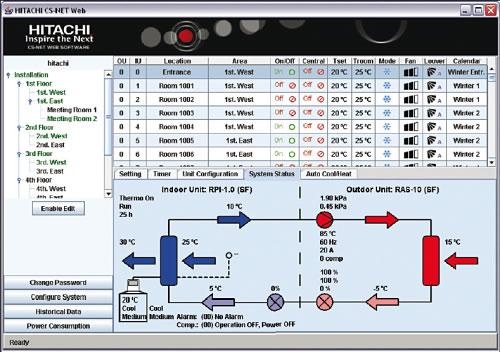 Nueva versión de la aplicación CS-NET WEB de Hitachi