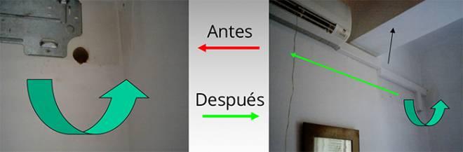 Antes y después de cambiar nuestro aire acondicionado de sitio