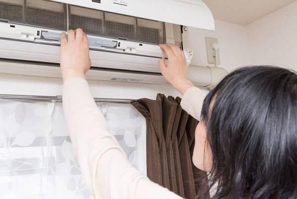 Limpieza de filtros de aire acondicionado