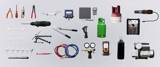 Materiales y herramientas para instalar aire acondicionado