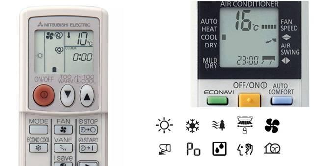 Significado de los símbolos del aire acondicionado