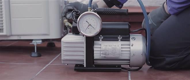 Vaciado de circuito de aire acondicionado