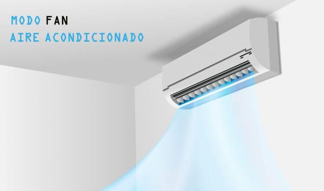 ¿Qué significa el modo FAN en el aire acondicionado?