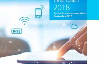 Nueva Tarifa de Precios Daikin 2018