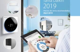 Daikin lanza su nueva Tarifa de precios para 2019