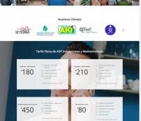 Pagina web de ADF Instalaciones y Mantenimiento