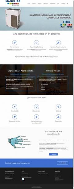 Página web de MANCLIAR S.L.