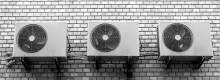 Aparatos de aire acondicionado en una pared