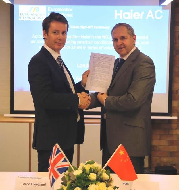 Haier, líder en aparatos de aire acondicionado con conectividad según Euromonitor