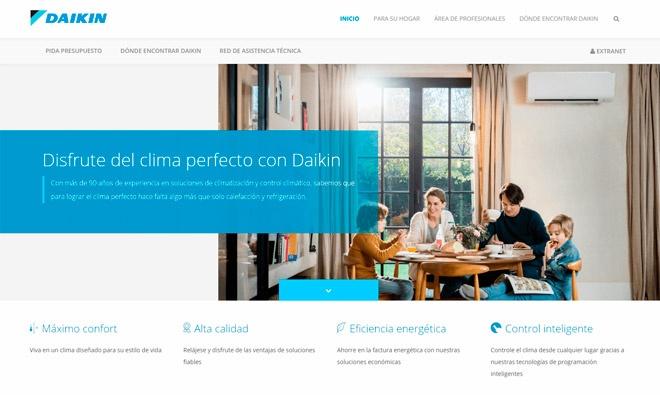 Nueva web de Daikin
