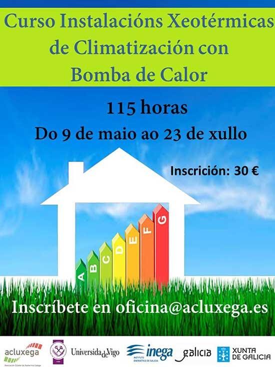 Curso de instalaciones geotérmicas de climatización con bomba de calor organizado por el Instituto Enerxético de Galicia