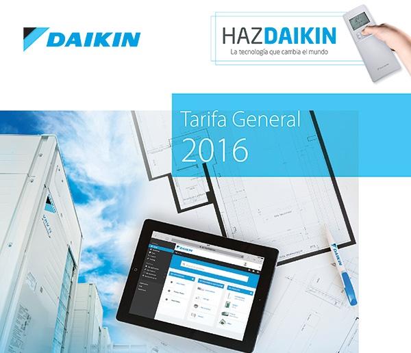 Daikin Presenta Su Tarifa De Precios Para 2016