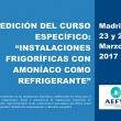 """El Curso """"Instalaciones Frigoríficas con Amoniaco como Refrigerante"""" de AEFYT alcanza su 8ª edición"""